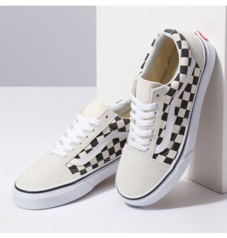 TÊNIS VANS OLD SKOOL CHECKERBOARD 27K (WHITE/BLACK)