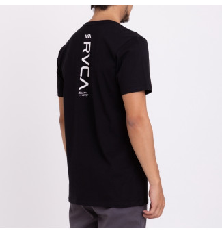 CAMISETA RVCA DOWN THE LINE (PRETO)