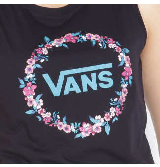 REGATA FEM VANS WREATH EDGER MUSCLE (PRETO)