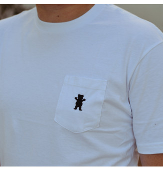 Camiseta Grizzly OG Bear Pocket Tee (Branco)