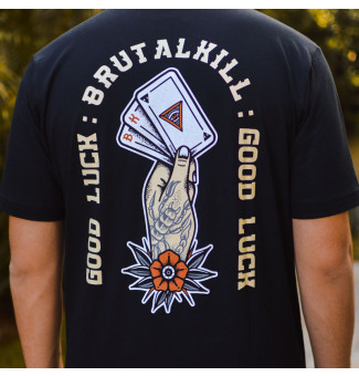 Camiseta Brutal Kill Luck (Preto)