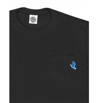 Camiseta Santa Cruz Especial Pocket Simplified Hand (Preto)