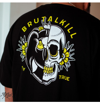 Camiseta Brutal Kill BIG Black Tongue (Preto)