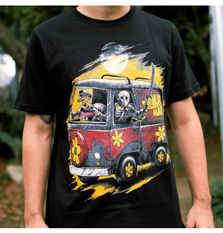 CAMISETA CHEMICAL KOMBI HORROR (PRETO)