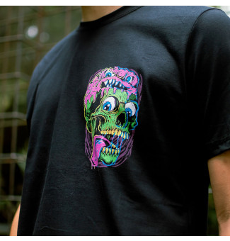 CAMISETA CHEMICAL CHEST SKULL CHM (PRETO)