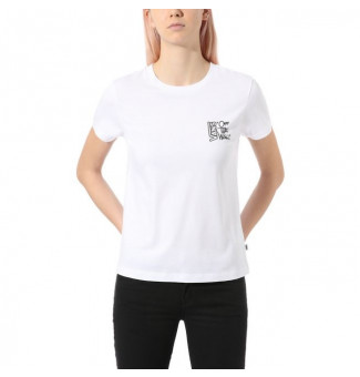 Camiseta Vans Fem Color Flash (Branco)