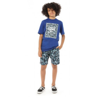 Camiseta Infantil Vans Print Box Boys (Royal)