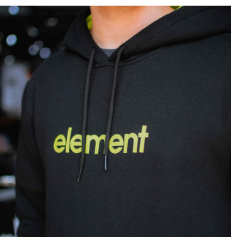 Moletom Canguru Element Lime Black (Preto)