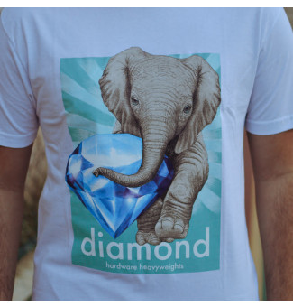 CAMISETA DIAMOND ENDAGERED TEE (BRANCO)