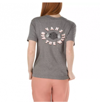 CAMISETA FEM VANS DOUBLE ROSE (CINZA)