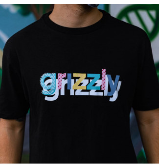 CAMISETA GRIZZLY TO THE MAX TEE (PRETO)