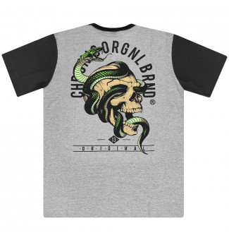 Camiseta Chronic Caveira Serpente (Mescla)