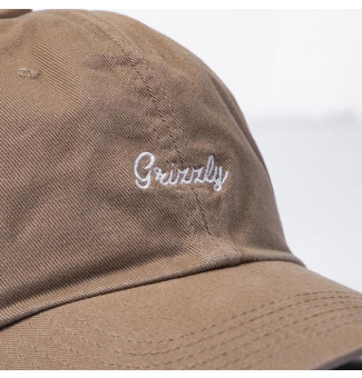 DAD HAT GRIZZLY LATE TO THE GAME (KHAKI)