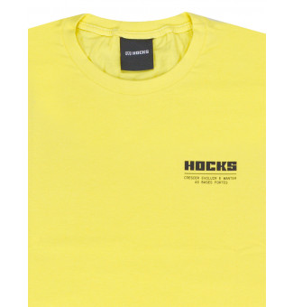 Camiseta Hocks Slogan (Amarelo)