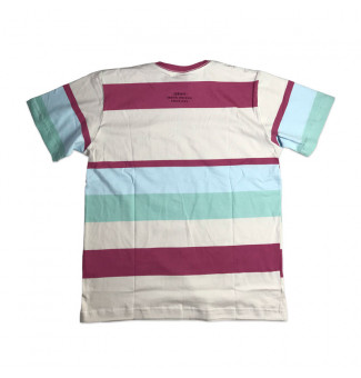 Camiseta Chronic Stripe 20929 (Rosa/Branco/Azul/Verde)