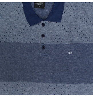 Camisa Polo Hocks BIG Dots Marinho