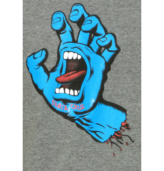CAMISETA SANTA CRUZ SCREAMING HAND (MESCLA CHUMBO)