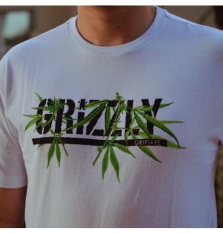 Camiseta Grizzly Seeds Stamp Tee (Branco)