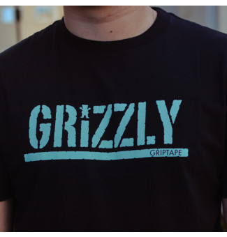 Camiseta Grizzly Stamped (Preto)