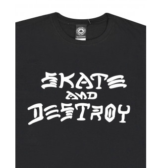 Camiseta Thrasher Skate And Destroy Preto