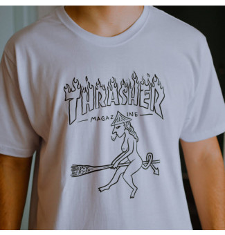 Camiseta Thrasher Drunk Witch (Branco)