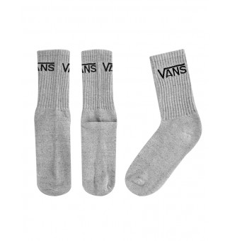 Kit Meia Vans Longa 3PK Classic Crew Heather Grey