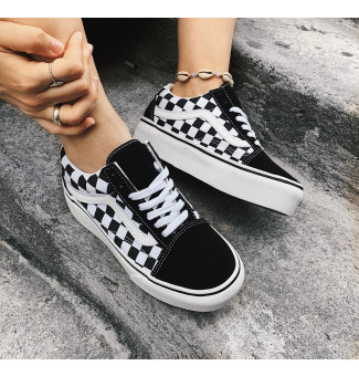 TÊNIS VANS OLD SKOOL PLATFORM (CHECKERBOARD) HRK