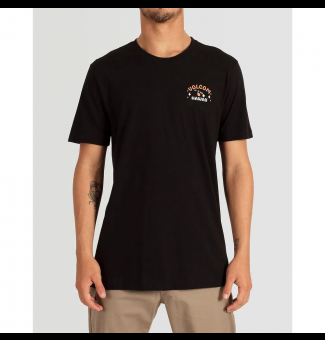 CAMISETA VOLCOM LONG FIT BETTER LEID (PRETO)