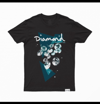 CAMISETA DIAMOND GALATIC TEE (BLACK)