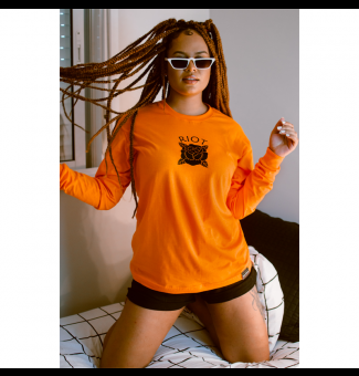 CAMISETA M/L RIOT ORANGE VIBES (LARANJA)