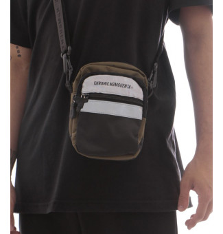 MINI BAG CHRONIC REFLETIVA 020/023 (MILITAR/PRETO)