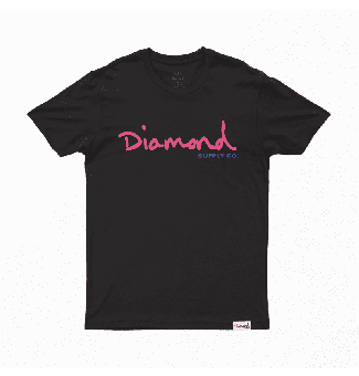 CAMISETA DIAMOND OG SCRIPT TEE (BLACK)
