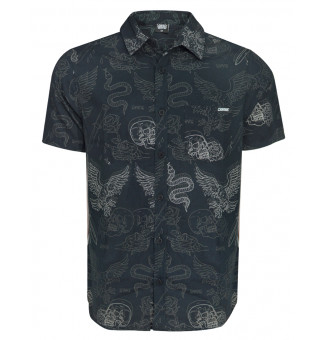 Camisa Chronic M/C Full Print 017 (Preto)