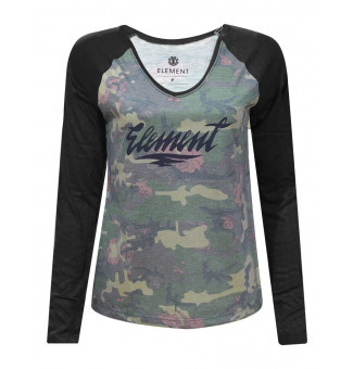 Raglan Fem Element M/L Camo Girl (Estampado/Preto)