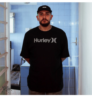 CAMISETA BIG HURLEY SILK SOLID (PRETO)
