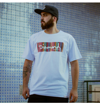 CAMISETA DIAMOND COLOR PLY BOX LOGO TEE (BRANCO)