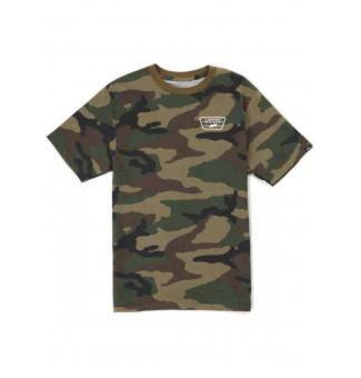 Camiseta Infantil Vans Full Patch Back (Camu Verde)