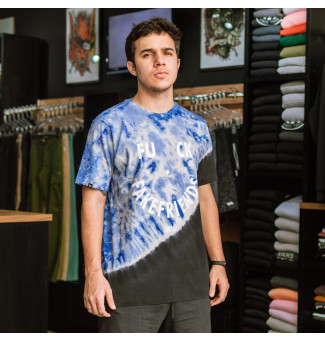 Camiseta Chronic Fake Friends Tie Dye (Azul)