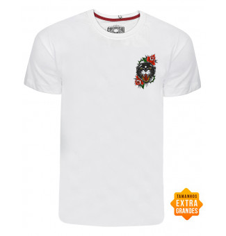 Camiseta Chemical BIG Onça Old (Branco)