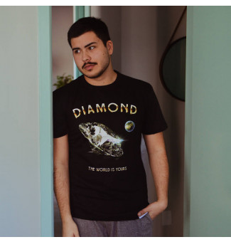 CAMISETA DIAMOND WORLD IS YOURS TEE (PRETO)