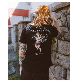 CAMISETA FEM BRUTAL KILL ANGELS (PRETO)