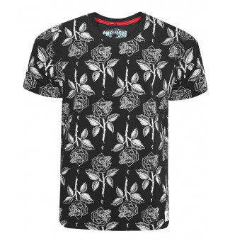 Camiseta Chemical Rose Preto