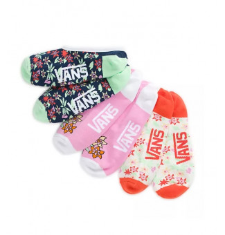 Kit Meia Fem Vans Curta Multi Tropic 448