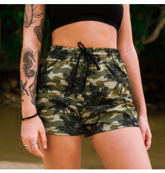 SHORTS TACTEL RIOT BEACH CAMO PALM