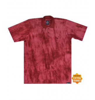 Camisa Polo Hocks BIG Conta Tie Dye Bordô