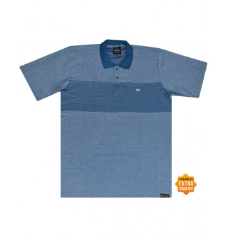 Camisa Polo Hocks BIG Dots Azul Claro