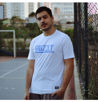 Camiseta Grizzly Stamped (Branco)