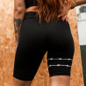 SHORTS RIOT BIKER BLACKOUT WIRE (PRETO)