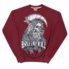 Moletom Careca Brutal Kill Killin you (Bordô)